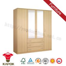 Bedroom closet wood cambridge style oak wardrobe with drawer iso9000 standard