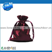 Customized hotsell high quality polyester satin pouch