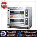 Shinelong gás industrial/elétrica k263 2- camada 4- bandeja de cozinha forno fabricantes cupcakes mini-gás forno
