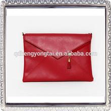 Fashion ladies genuine leather envelope hand bags