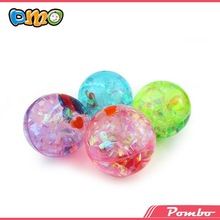 led electric Glitter Water Bounce ball