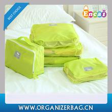 Encai New Arrival Travel Clothing Organizer Bag Set 5PCS Storage Mesh Pouch Colorful Cosmetic Bag 5pcs/set For Journey