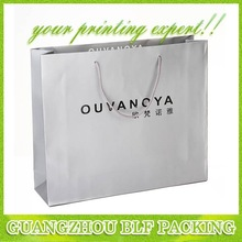(BLF-PB051) Glossy paper bag Recycled paper shopping bags