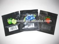 Black mini ziplock bag for spice packaging