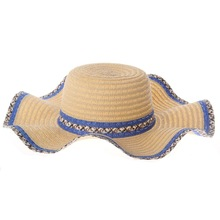 Natural Stylish Wide Brim Ladies Sun Protection Straw Hats