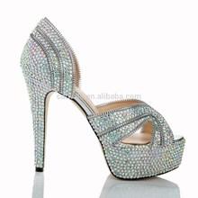 CATWALK-S1360247-1high heel peep toe women platform shoes sexy high heel shoe thick heels with upper diamond zipper+rubber