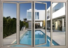 CE,ISO, AS approved bi-fold door with double glass