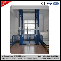 Hydraulic guide rail lift platform for sale
