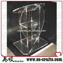 Wholesale New Heart Shape acrylic pulpit /acrylic podium / acrylic lectern