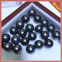 14-15MM Tahitian black pearls 3818