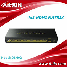 Real HDMI 1.4V 4*2 High Speed HDMI True Matrix with Optical SPDIF Audio Output