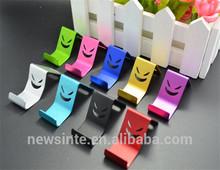 smile metal mobile phone bracket for iphone,samsung ,xiaomi, LG &smartphone