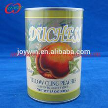 Pêssego amarelo enlatado metades frutas em conserva em calda 3 kg / 0.82 kg