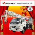 10 toneladas de brazo telescópico camiones grúa para la venta con motor eléctrico