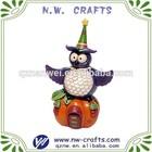 Hallowmas pumpkin resin owl animal crafts