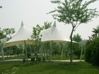Pagoda membrane structure, hat marquee tent