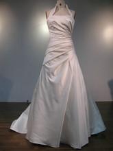 Ruffle satin Wedding Dress