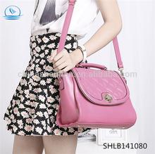 new embroidery elegant design woman handbag lady leather handbag PU bag manufacture