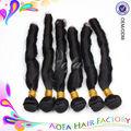 nuevo producto caliente de primavera rizo natural negro de mongolia virgen remy trama del pelo