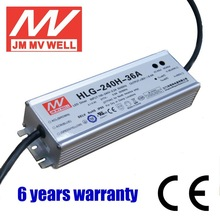 Waterproof HLG-240H-36A 240w dimmable adjustable constant current led power driver 36v ip67 with CE UL TUV GS EMC