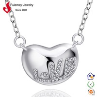 Thai silver jewelry simple necklace designs FN621