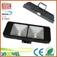 Meanwell/Bridgelux/100lm/watt long-distance LED stadium floodlight 200w 3years warranty
