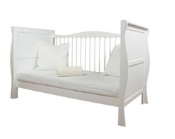 NEW PINE WOOD WHITE SLEIGH COT BED & NEW QUALITY COTBED