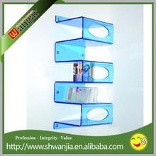 acrylic wall rack,acrylic wall display stand,wall mounted acrylic display case