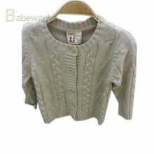 New style cream-coloured kid knitting girl sweater cardigans
