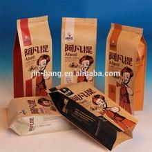 Food Grade Brown Kraft Paper Bag For Food With Window paper bag