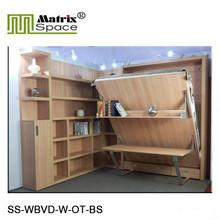 Multi-Purpose Vertical Wall Furniture with Desk and Book Shelf