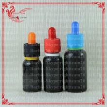 translucent black glass bottles dropper glass bottles dropper with different colors