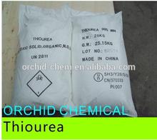 High Purity Chemical 99% min thiourea Thiocarbamide CAS#62-56-6