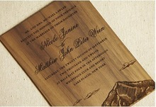 high end bamboo etched card or wooden gathering cards