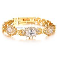 Fashion Korean Roman Jewelry18K Gold Plated Full Clear Crystal bracelet