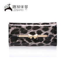 New arrival crown wallet with leopard black print for ladies