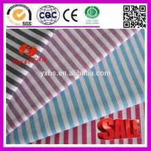 100% Cotton white black purple blue red stripe fabric