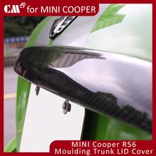 For Mini Cooper R56 Carbon Fiber Moulding Trunk Lid Cover