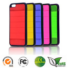 TPU+Silicone mobile phone case for iphone6 with many functions
