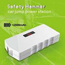 Shenzhen factory mini car battery jump start 12V with safety hammer