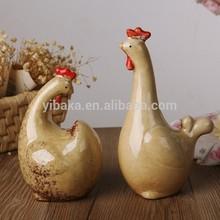 chicken farm delicate ceramic chicken vivid design home decoration crafts FE300626