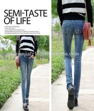Womens 2015 New Style jeans Fashion Slim Fitting pants washing Denim stretch pants pencil pants