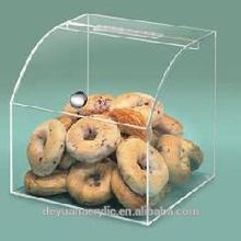 Acrílico distribuidor de doces caixa/acrílico pão caixa/plexiglass caixa de pão