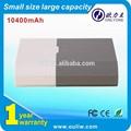 Pequeño tamaño de gran capacidad 10400 mah móvil cargador para el iphone, Ipad, Teléfono celular
