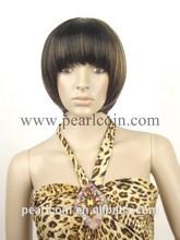 Fashionable100% Synthetic Kanekalon Toyokalon Japanese Fiber Short Bob Bang Wig