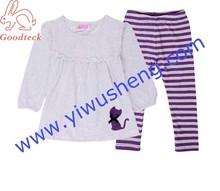baby Christmas pajamas cheap 100% cotton baby cloth pajamas sleeping wear purple suit sets