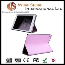 professional good pattern colored pu flip stand case for ipad