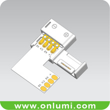 L shape non waterproof 10mm corner connector for flexible led strip