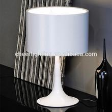 Modern Spun Table Lamp Glossy Black/White
