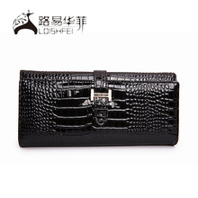 2014 newest style genuine crocodile leather wallet for laides